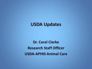 USDA Updates