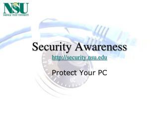 Security Awareness security.nsu
