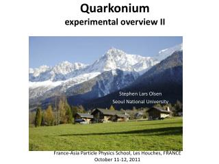 Quarkonium experimental overview II