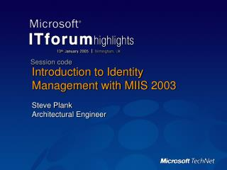 Introduction to Identity Management with MIIS 2003