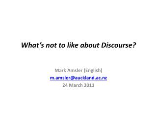 What's not to like about Discourse?