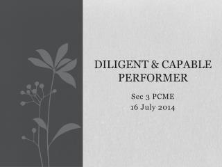 Diligent  &  Capable Performer