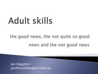 Adult skills