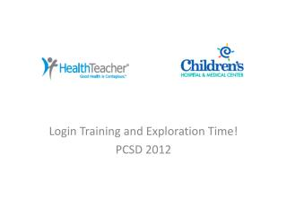 Login Training and Exploration Time! PCSD 2012