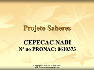 Projeto Saberes