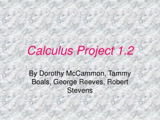 Calculus Project 1.2