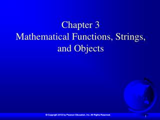 Chapter 3  Mathematical Functions, Strings, and Objects