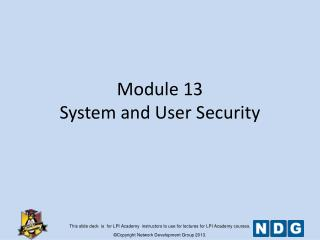Module 13 System and User Security