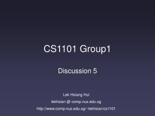 CS1101 Group1