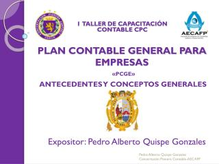 PLAN CONTABLE GENERAL PARA EMPRESAS