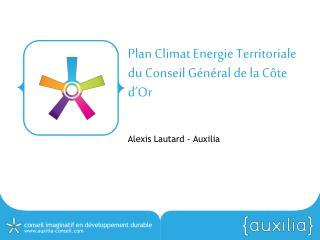Plan Climat Energie Territoriale du Conseil Général de la Côte  d'Or