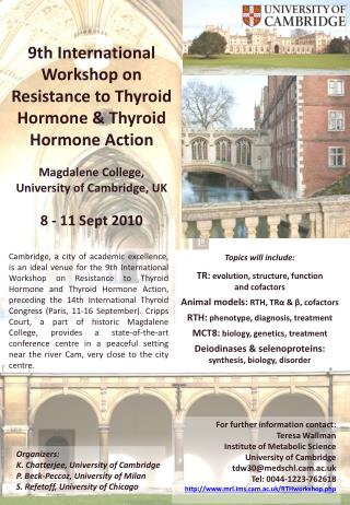 9th International Workshop on Resistance to Thyroid Hormone & Thyroid Hormone Action