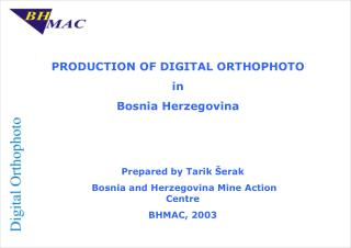 PRODUCTION OF DIGITAL ORTHOPHOTO  in  Bosnia Herzegovina