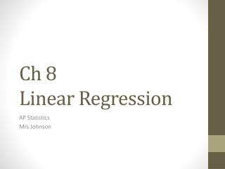Ch  8  Linear Regression
