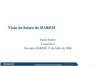 Visão do futuro do HAREM