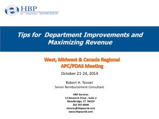 Tips for  Department Improvements and Maximizing Revenue