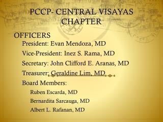 PCCP- CENTRAL VISAYAS CHAPTER