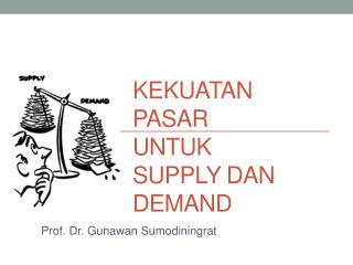 Kekuatan Pasar untuk Supply dan Demand