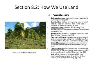 Section 8.2: How We Use Land