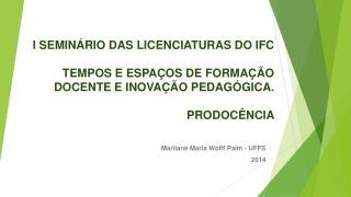 Marilane Maria Wolff Paim - UFFS 2014