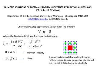 Numeric Solutions of Thermal Problems Governed by Fractional Diffusion
