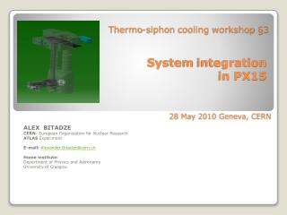 Thermo-siphon cooling  workshop §3