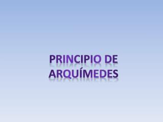 Principio de Arqu�medes