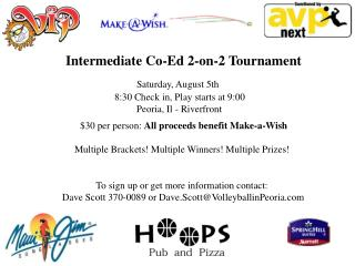 Intermediate Co-Ed 2-on-2 Tournament