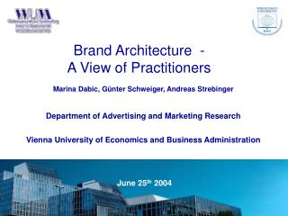 Brand Architecture  -  A View of Practitioners
