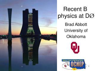 Recent B    physics at D �