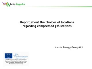 Report about the choices of locations regarding compressed gas stations