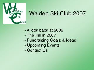 Walden Ski Club 2007