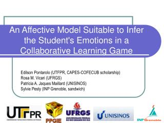 An Affective Model Suitable to Infer the Student's Emotions in a Collaborative Learning Game