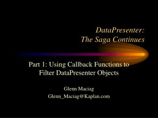DataPresenter:  The Saga Continues