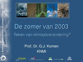 De zomer van 2003 Teken van klimaatverandering?