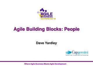 Agile Building Blocks: People