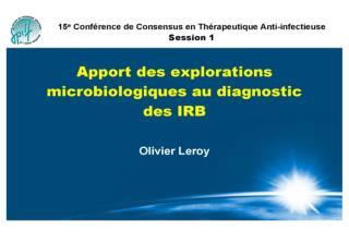 Apport des explorations microbiologiques au diagnostic des infections des voies respiratoires basses