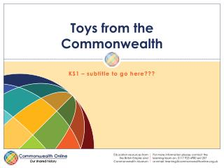 Toys from the Commonwealth