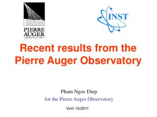 Recent results from the  Pierre Auger Observatory