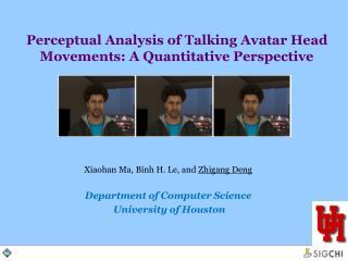 Perceptual Analysis of Talking Avatar Head Movements: A Quantitative Perspective