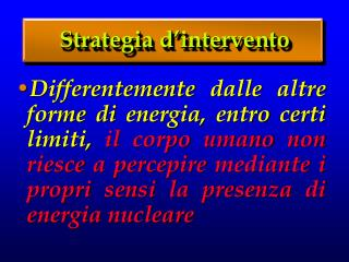 Strategia d'intervento