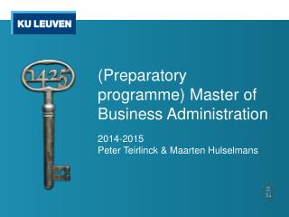 (Preparatory programme )  Master of Business Administration