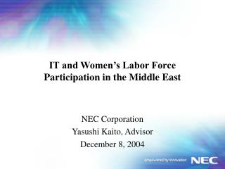IT and Women s Labor Force Participation in the Middle East