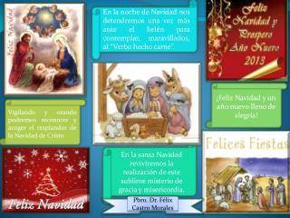 En la santa Navidad reviviremos la realizaci�n de este sublime misterio de gracia y misericordia.