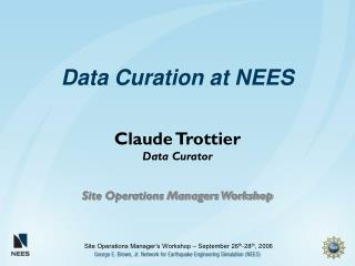 Data Curation at NEES