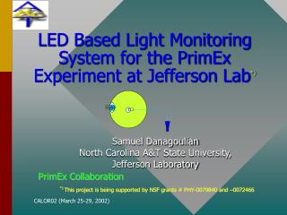 LED Based Light Monitoring System for the PrimEx Experiment at Jefferson Lab *)