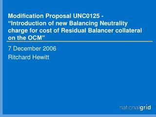 7 December 2006 Ritchard Hewitt