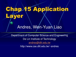 Chap 15 Application Layer