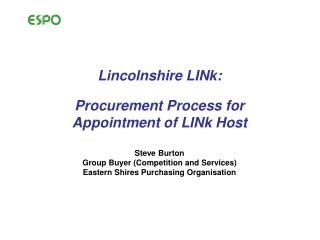 Lincolnshire LINk: Procurement Process for Appointment of LINk Host