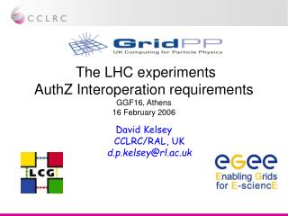 The LHC experiments AuthZ Interoperation requirements GGF16, Athens 16 February 2006